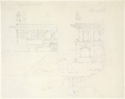 Drawing from a set of 16 architectural details in N. India made between 1786 and 1792 1814